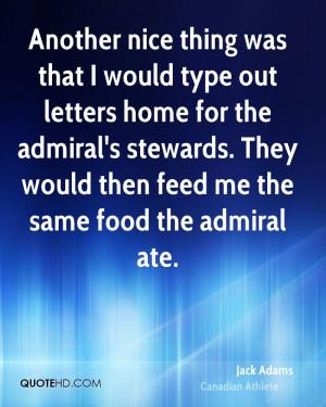 Jack Adams Food Quotes