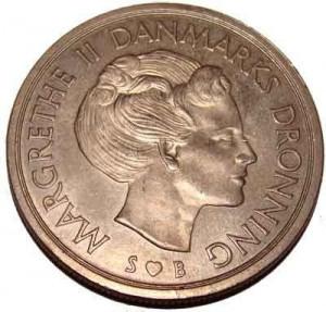 Kroner Front Margrethe Denmark