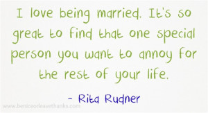 marriage quote by rita rudner celebrating 20 years of marriage