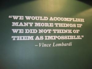 Vince Lombardi vs. Mother Cabrini