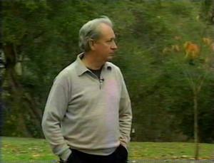 Michael Nesmith walking outside