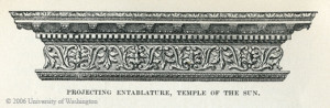 PROJECTING ENTABLATURE, TEMPLE OF THE SUN.