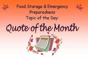 Quote of the Month September