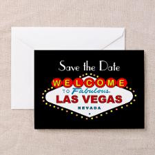 Las Vegas Save the Date Cards (Pk of 10) BLACK for