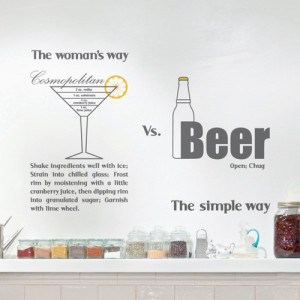 wall decal men's vs woman's drinking habits