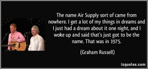 More Graham Russell Quotes