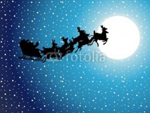 christmas reindeer flying