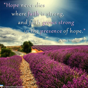 lavender flowers blooming in provence france with quote of the day