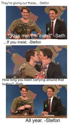 SNL St. patricks day :) FAVORITE WEEKEND UPDATE EVER. i miss stefon ...