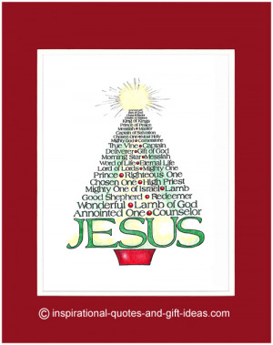 ... designed this unique Christmas Tree with many names of Jesus
