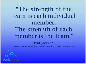 The strength of the team is each individual member. The strength of ...
