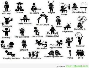 Which friend fits each