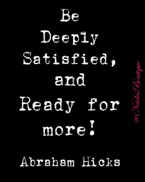 Abraham Hicks Quote, on law of attraction, black and white Print ...