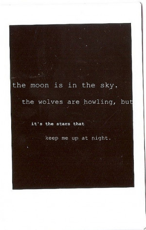 moon, poetry, quote, stars, text, wolves, words