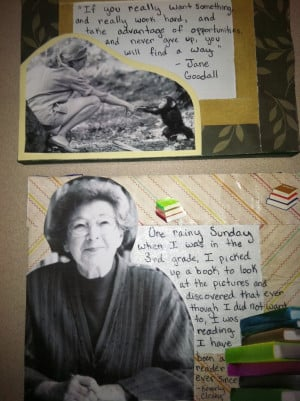 Beverly Cleary and Jane Goodall Quotes on Canvas