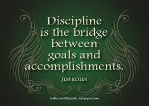 ... is the bridge between goals and accomplishments ~ Goal Quote