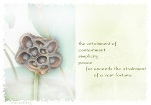 Inner peace quotes - The attainment of contentment simplicity peace ...
