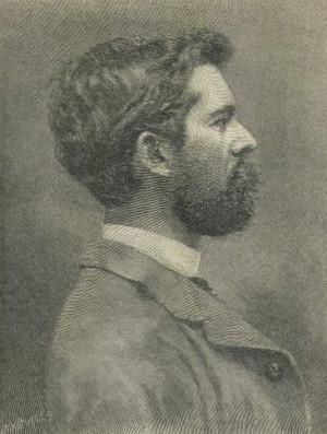 John Singer Sargent, profile portrait engraving, from 1887 Harper's ...