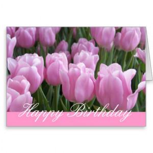 Pretty Pink Tulips Happy