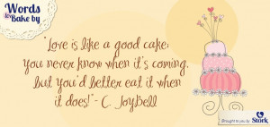 We love a good dessert! #Baking #Quotes