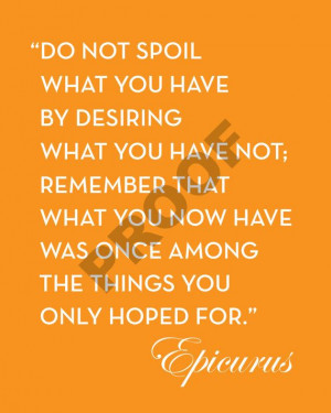 THANKSGIVING Customizable EPICURUS Quote Printable Artwork by ...