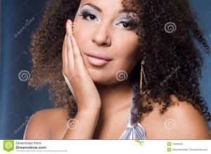 ... this Royalty Free Stock Photo Fashionable Mulatto Woman picture