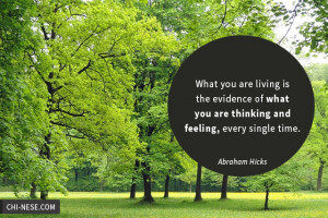 What you are living is the evidence of what you are thinking and ...