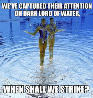 Synchronized Swimming Funny Quotes Synchronized swimmingupside