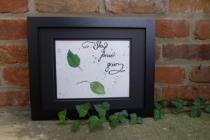 Inspirational Quote Painting - Stay Forever Green