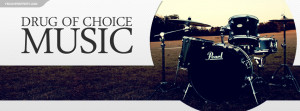 My Drug of Choice Is Music Drums Quote Drummer