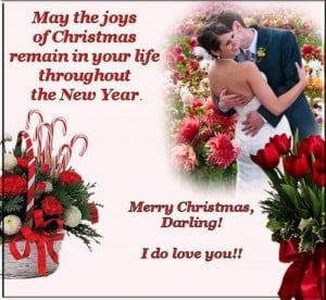 Romantic Merry Christmas Cards Sayings With Love