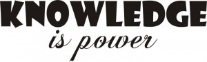Knowledge is Power Quote Decal Sticker Wall kid bo