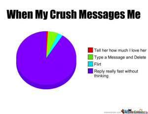 When My Crush Messages Me...