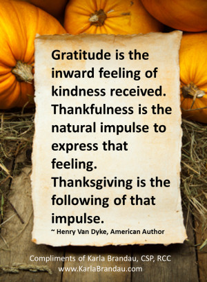 Follow the impulse to give thanks