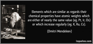 Elements which are similar as regards their chemical properties have ...