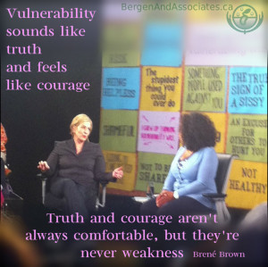 Quote from Brene Brown that says,