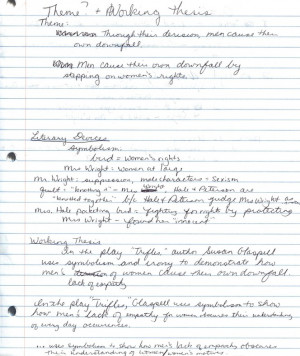 Research paper on trifles by susan glaspell