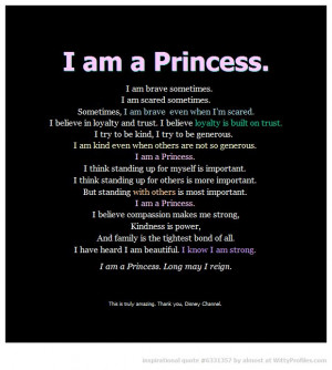 am a princess.....Disney This would be so pretty written on a ...