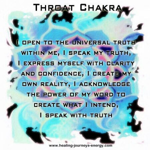 Quotes About Throat Chakra Quotesgram