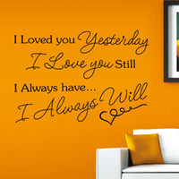 Wholesale Wall Decals Quotes Loved You Yesterday Vinyl Mirror Wall ...