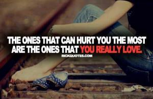 Hurt u the most