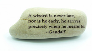 Wizard Is Never Late Tolkien Gandalf Lord of the Rings Engraved ...