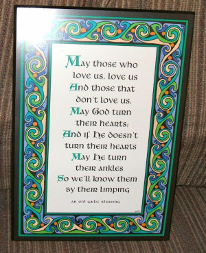 Gaelic Irish Blessing Plaque, Humorous