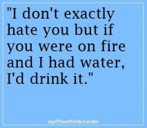 Quotes / ah ah ah omg soooo mean! but funny | We Heart It