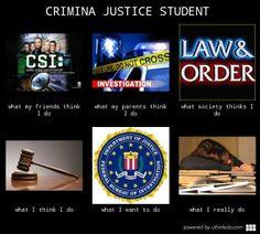 Criminal justice, because badass isn't a major