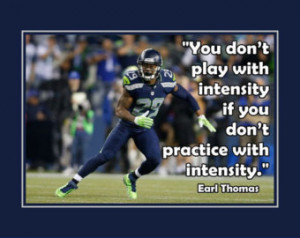 Earl Thomas Seattle Seahawks Photo Quote Fan Wall Art Print 8x11