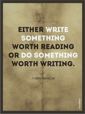 Love writing - This is a great quote