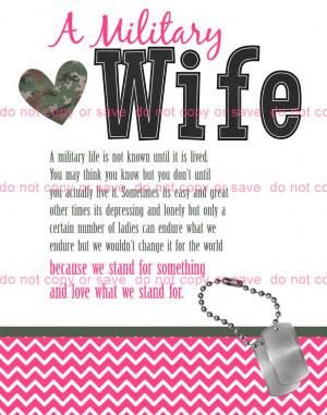 military wife art print