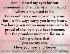 Son...I will always carry you in my heart. Happy 19th Birthday Will ...