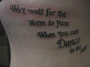 ... Meaningful Tattoo Words » Inspiring Optimistic Words Tattoo Design